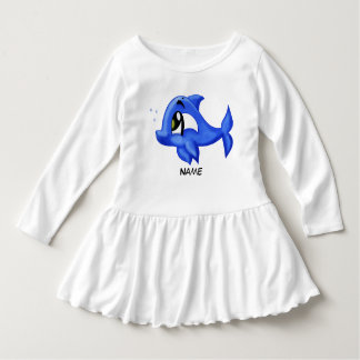 Unique baby dolphin cartoon learn your abc tee shirt