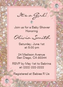 Unique baby shower invitations announcements zazzle unique baby shower invitations girls pinkbrown filmwisefo