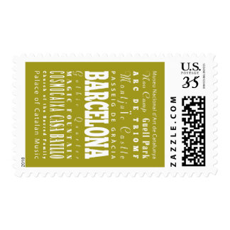 Unique Barcelona, Spain Gift Idea Stamps