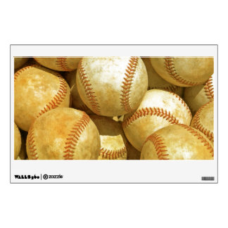 Unique Baseball Artwork Rectangle Wall Decal