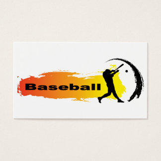 Unique Baseball Business Card