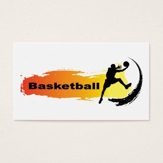 Unique Basketball Business Card