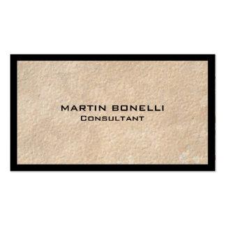 Unique Beige Black Border Special Plain Business Card