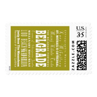Unique Belgrade, Serbia Gift Idea Postage Stamp