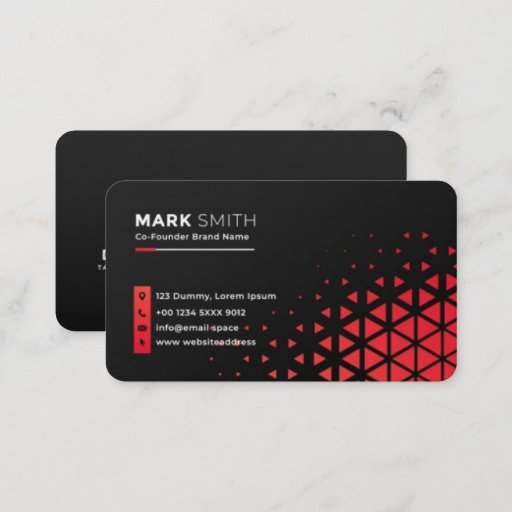 Unique Black Abstract Mordern  Business Card