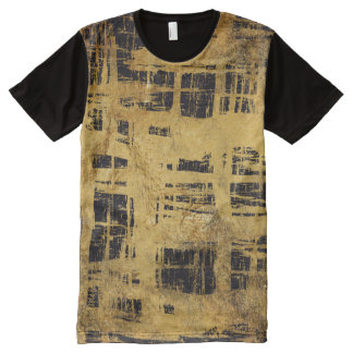 Unique Black and gold grunge Pattern Style All-Over-Print Shirt