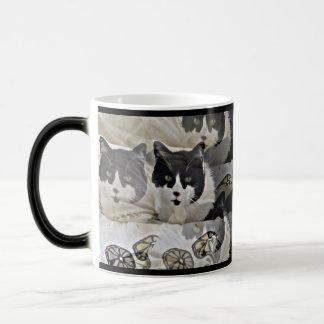 unique Black and white kitty coffee mug