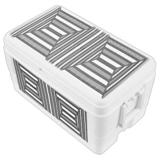 Unique Black and White Pattern Chest Cooler