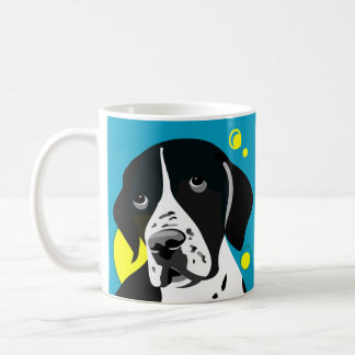 Unique Black and White Pointer Dog Mugs