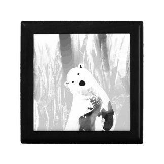 Unique Black and White Polar Bear Design Keepsake Box