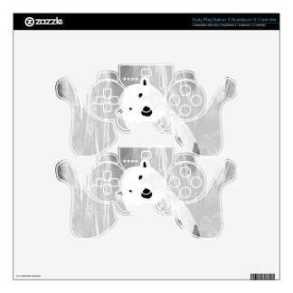 Unique Black and White Polar Bear Design PS3 Controller Decal