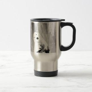 Unique Black and White Polar Bear Design Travel Mug