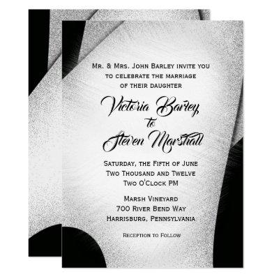 Unique Black and White Wedding Invitation