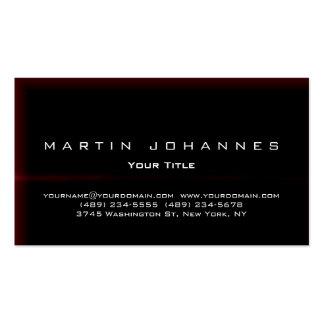 Unique black red plain professional business card