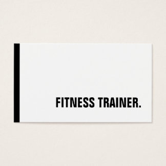 Unique Black White Fitness Trainer Special Sole Business Card