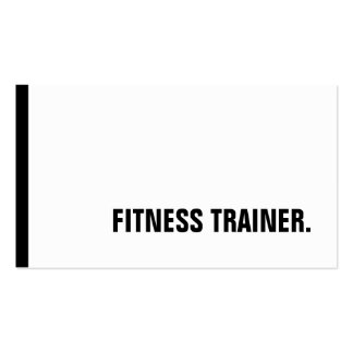 Unique Black White Fitness Trainer Special Sole Double-Sided Standard Business Cards (Pack Of 100)