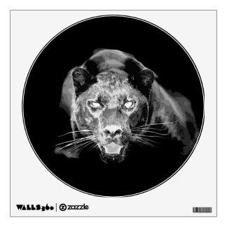 Unique Black White Jaguar Circle Wall Decal