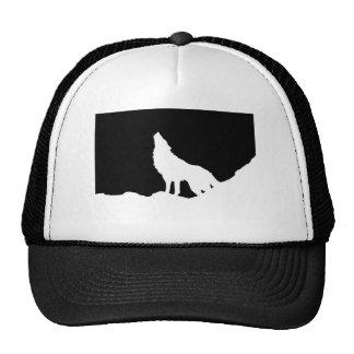 Unique Black & White Pop Art Wolf Silhouette Trucker Hat