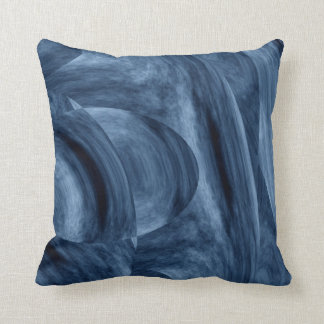 Unique Blue Abstract Pillow Delfine by STj