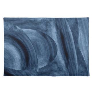 Unique Blue Abstract Placemat Delfine by STj