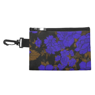 Unique Blue Abstract Roses Accessory Bag