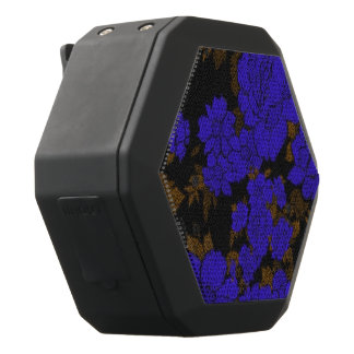 Unique Blue Abstract Roses Black Bluetooth Speaker