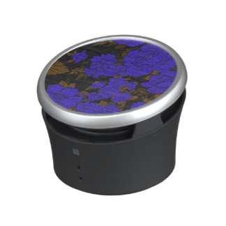 Unique Blue Abstract Roses Bluetooth Speaker