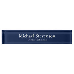 Unique Blue Elegant Dental Technician Nameplate
