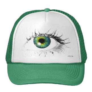 unique blue green eye see you hat