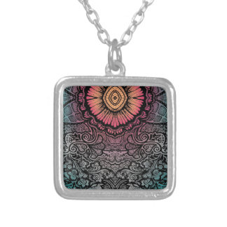 UNIQUE BOHEMIAN PATTERN SILVER PLATED NECKLACE