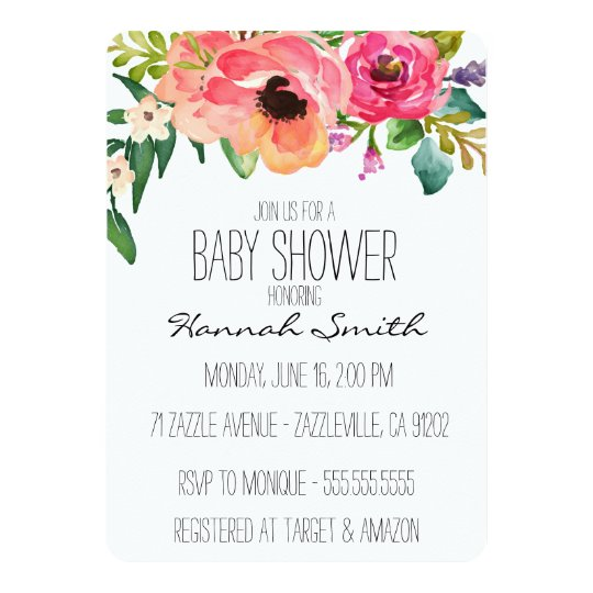 unique boho floral baby shower invitation | zazzle, Baby shower invitations