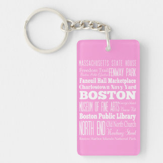 Unique Boston, Massachusetts Gift idea Single-Sided Rectangular Acrylic Keychain