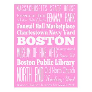 Unique Boston, Massachusetts Gift idea Postcard