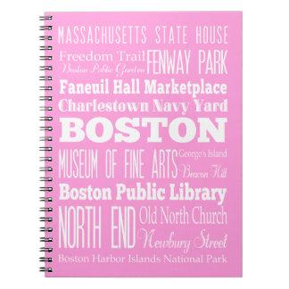 Unique Boston, Massachusetts Gift idea Spiral Notebook