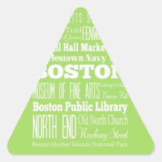 Unique Boston, Massachusetts Gift Idea Triangle Sticker