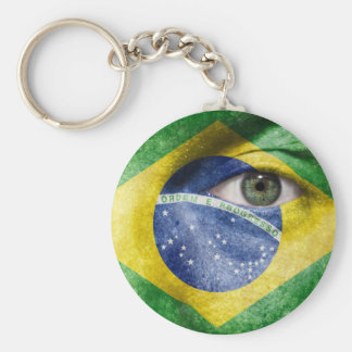 Unique Brasil flag design on your cool gift Keychains