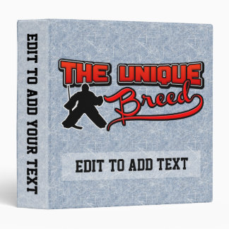 Unique Breed, Ice Hockey Goalie Album Binder