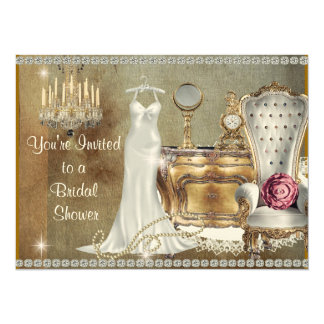 UNIQUE BRIDALSHOWER INVITATION FAUX  BLING