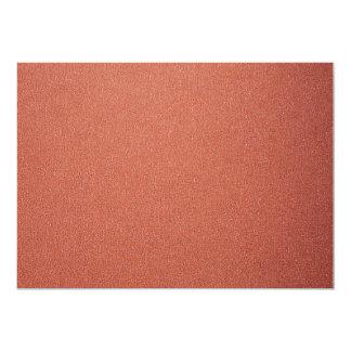 """Unique Bright copper 5"""" X 7"""" Invitation Card"""