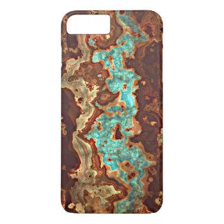 Unique Brown Aqua Turquoise Geode Marble Pattern iPhone 7 Plus Case