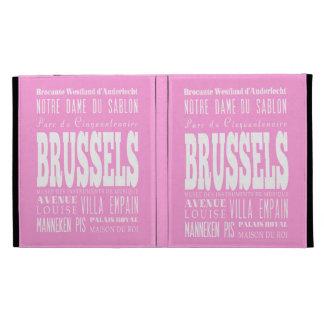 Unique Brussels, Belgium Gift Idea iPad Folio Covers