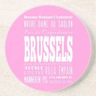 Unique Brussels, Belgium Gift Idea Drink Coasters