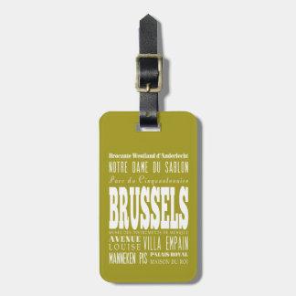 Unique Brussels, Belgium Gift Idea Luggage Tags