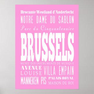 Unique Brussels, Belgium Gift Idea Poster