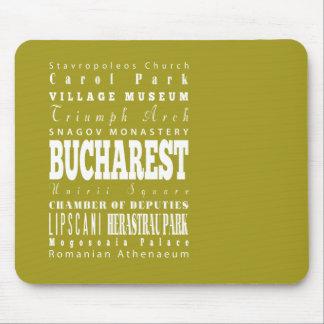 Unique Bucharest, Romania Gift Idea Mouse Pad