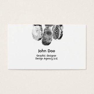 Unique business card with fingerprints