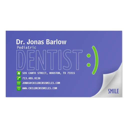 Unique Business Cards Dental Business Card