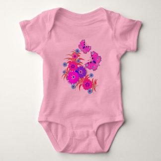 Unique Butterflies and Flowers Baby Bodysuit