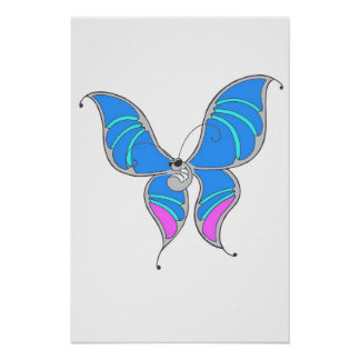 Unique butterfly 1 poster