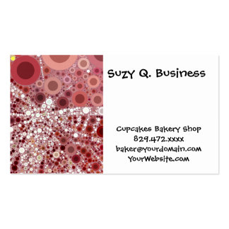 Unique Butterfly Dragonfly Mosaic Mauve Color Double-Sided Standard Business Cards (Pack Of 100)